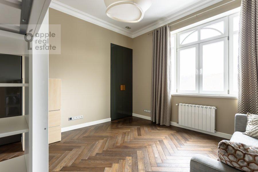 Bedroom of the 4-room apartment at Beregovaya ulitsa 4K1