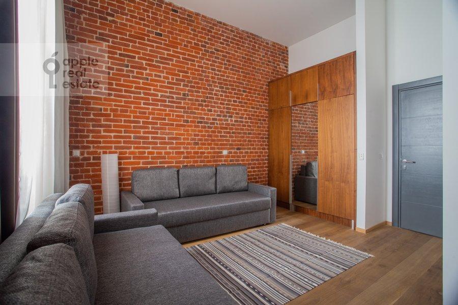 Living room of the 2-room apartment at Myasnitskaya ulitsa 24/7s3