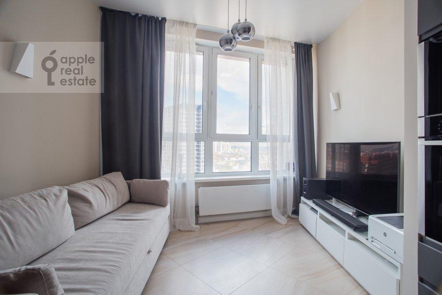 Гостиная в 2-комнатной квартире по адресу Шелепихинская набережная 34к1