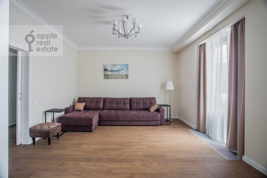 Living room of the 2-room apartment at Leningradskiy pr-kt 36s38