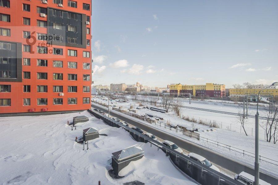 View from the window of the 3-room apartment at Avtozavodskaya ulitsa 23Bk2