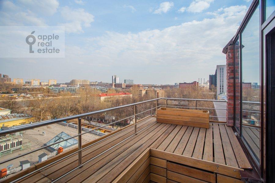 Balcony / Terrace / Loggia of the studio apartment at 2-y Paveletskiy proezd 5S1