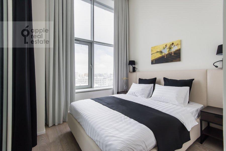 Bedroom of the 2-room apartment at Novyy Arbat ul 15