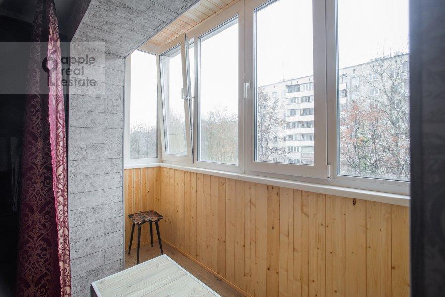 Balcony / Terrace / Loggia of the 2-room apartment at Akademika Pavlova 21k1