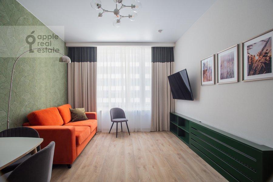Гостиная в 3-комнатной квартире по адресу Докучаев переулок 2с3