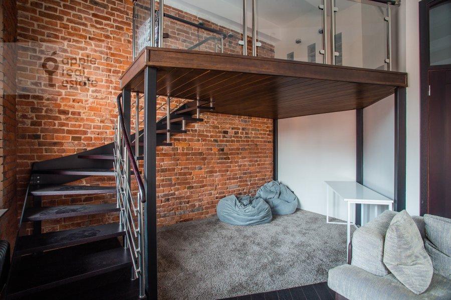 Living room of the 3-room apartment at Varshavskoe shosse 9s28
