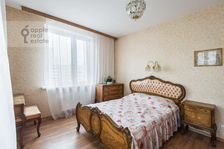 Bedroom of the 3-room apartment at 3-ya Filevskaya ulitsa 6k2