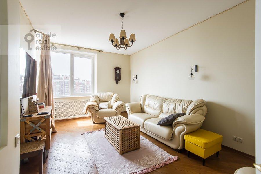 Living room of the 2-room apartment at Marshala Sokolovskogo 5