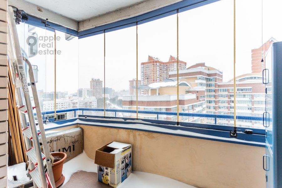 Balcony / Terrace / Loggia of the 4-room apartment at Leninskiy prospekt 98K1