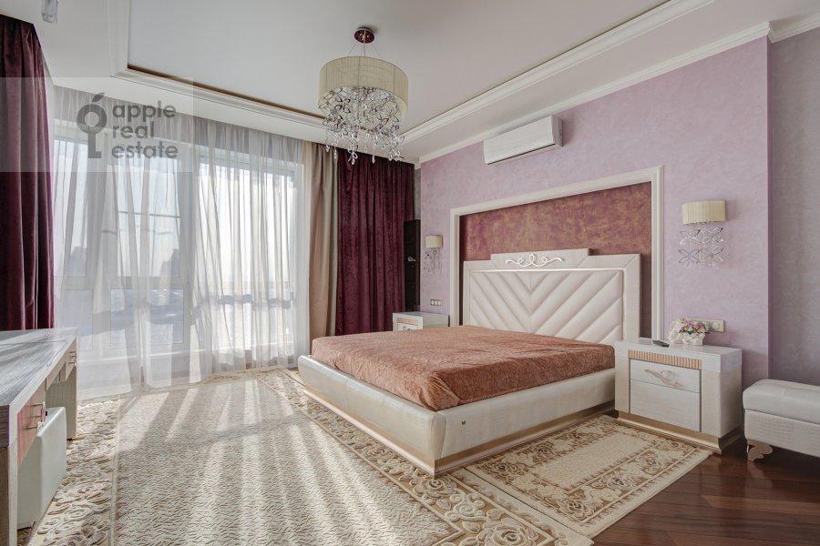 Bedroom of the 3-room apartment at Marshala Koneva 14
