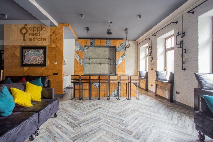 Гостиная в 2-комнатной квартире по адресу Староконюшенный переулок 45