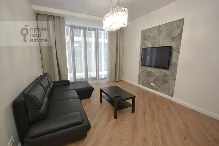 Living room of the 3-room apartment at Leningradskiy prospekt 36s30