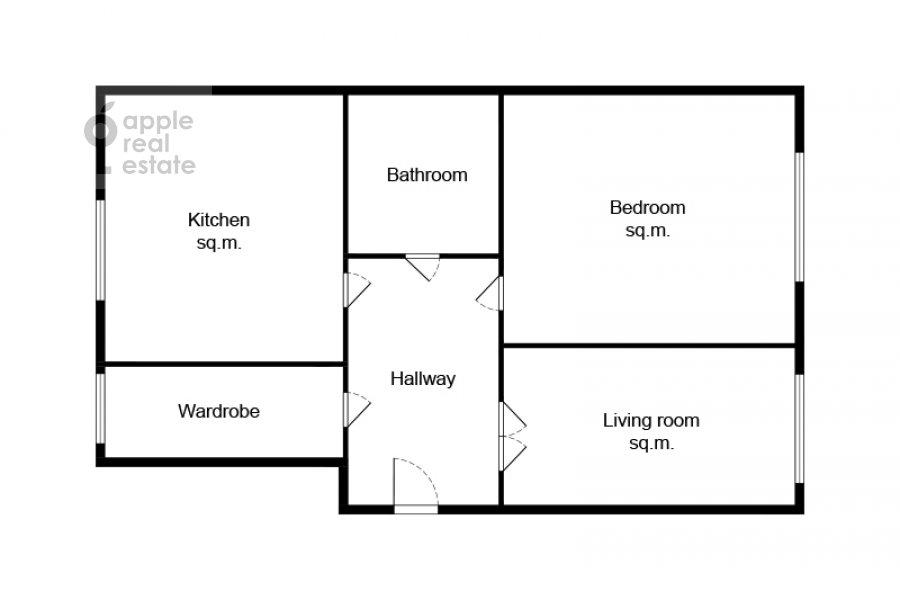 Поэтажный план 3-комнатной квартиры по адресу Чистопрудный бульвар 9с1