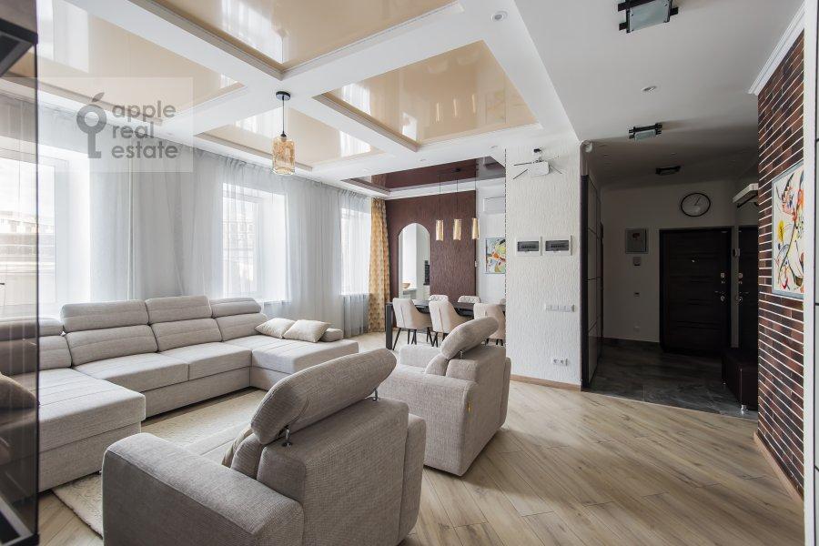 Гостиная в 2-комнатной квартире по адресу Павелецкая площадь 1