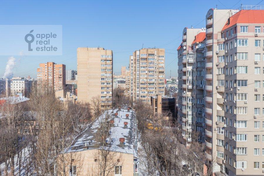 Вид из окна в 3-комнатной квартире по адресу Новоспасский переулок 3к1