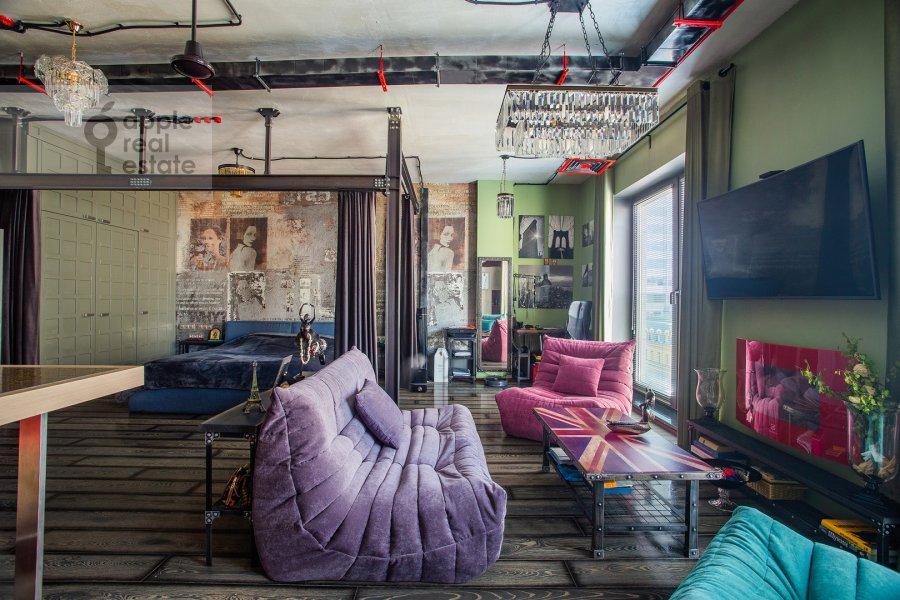 Гостиная в 1-комнатной квартире по адресу Большая Садовая улица 5к1