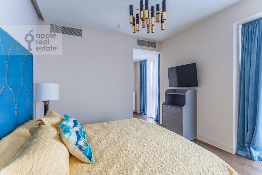 Bedroom of the 3-room apartment at Bumazhnyy proezd 4