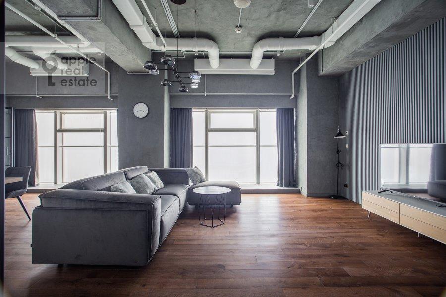 Living room of the 1-room apartment at 1-y Krasnogvardeyskiy proezd 15