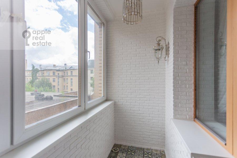 Balcony / Terrace / Loggia of the 3-room apartment at Troitskaya ulitsa 9k1
