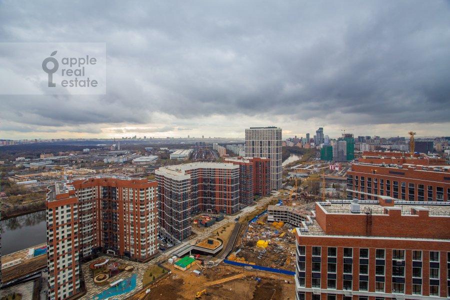View from the window of the 2-room apartment at Shelepikhinskaya naberezhnaya 34k3