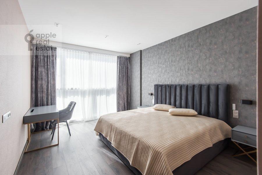 Bedroom of the 4-room apartment at Paveletskaya naberezhnaya 6A