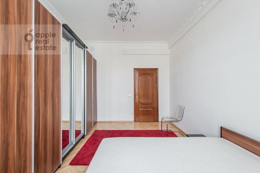 Bedroom of the 3-room apartment at Tverskaya 15