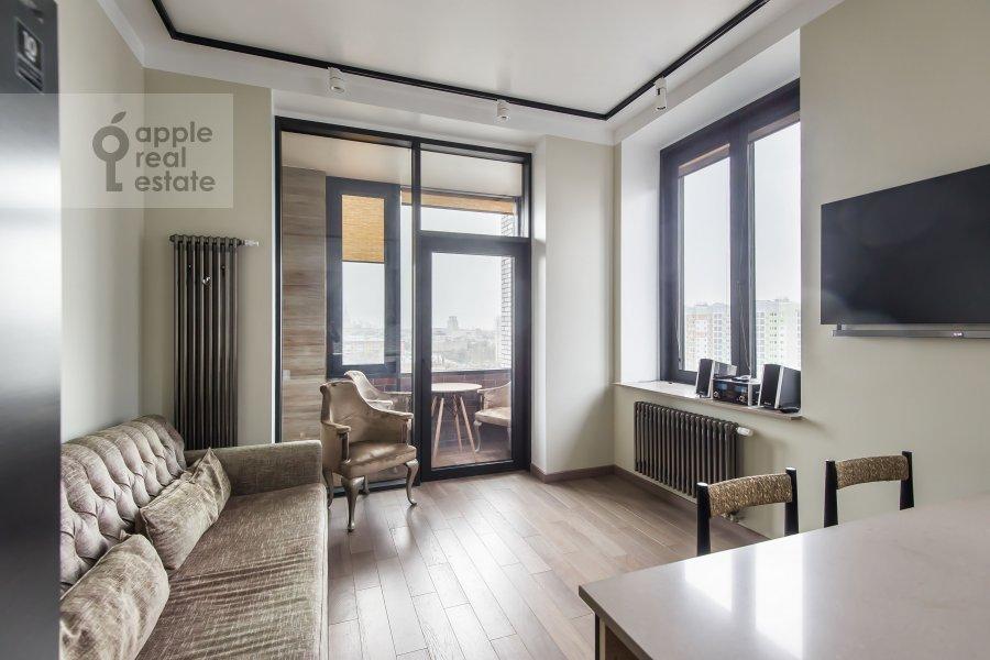 Гостиная в 2-комнатной квартире по адресу Новочеремушкинская улица 17