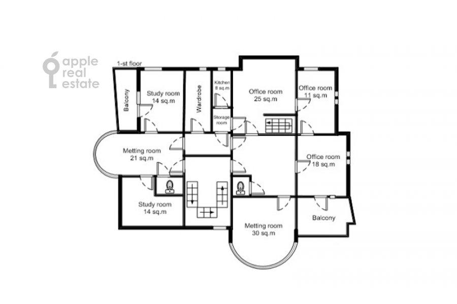 Поэтажный план 6-комнатной квартиры по адресу Трубная улица 23К2