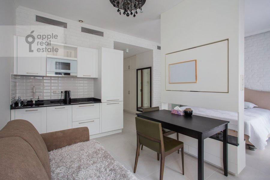 Кухня в 1-комнатной квартире по адресу Ленинский проспект 38Ак3