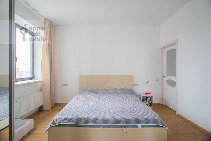 Bedroom of the 3-room apartment at Kronshtadtskiy bul'var 6 k3