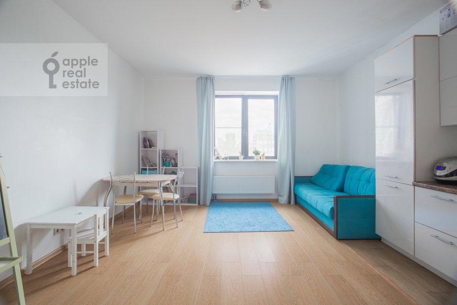 Living room of the 3-room apartment at Kronshtadtskiy bul'var 6 k3