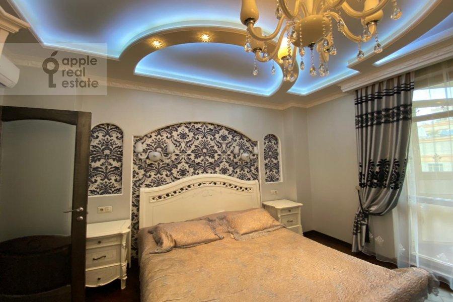 Bedroom of the 3-room apartment at Lomonosovskiy prospekt 25K3