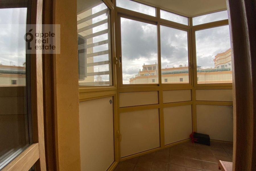 Balcony / Terrace / Loggia of the 3-room apartment at Lomonosovskiy prospekt 25K3