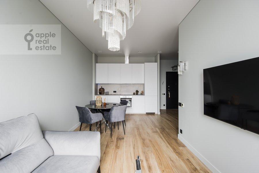 Гостиная в 3-комнатной квартире по адресу Ходынская улица 2