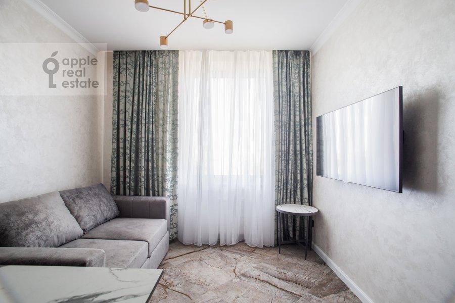 Гостиная в 2-комнатной квартире по адресу улица Золоторожский Вал 8