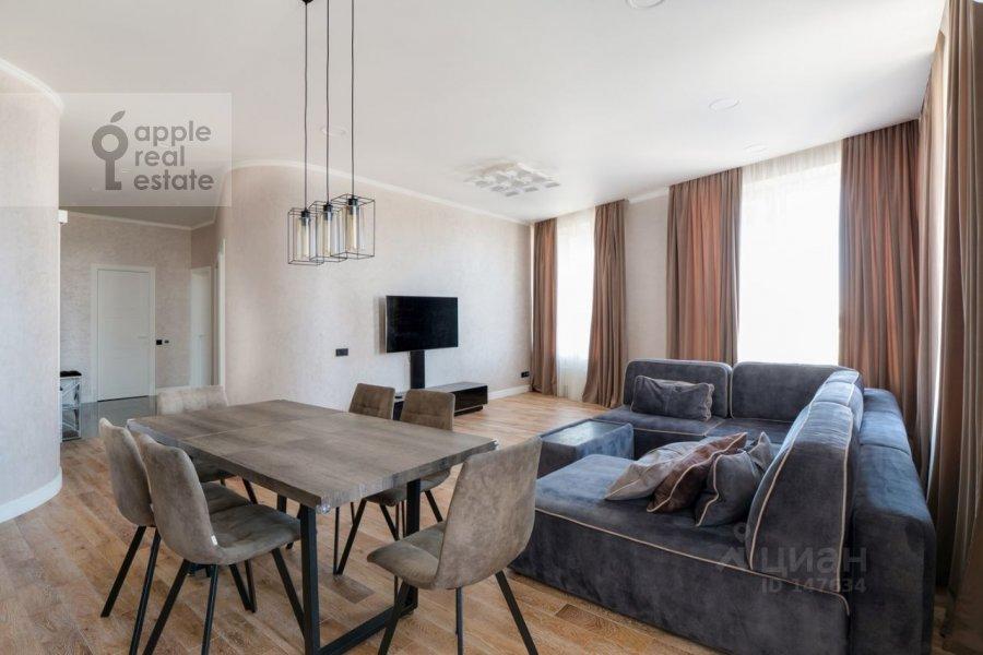 Гостиная в 3-комнатной квартире по адресу Шелепихинская набережная 34к2