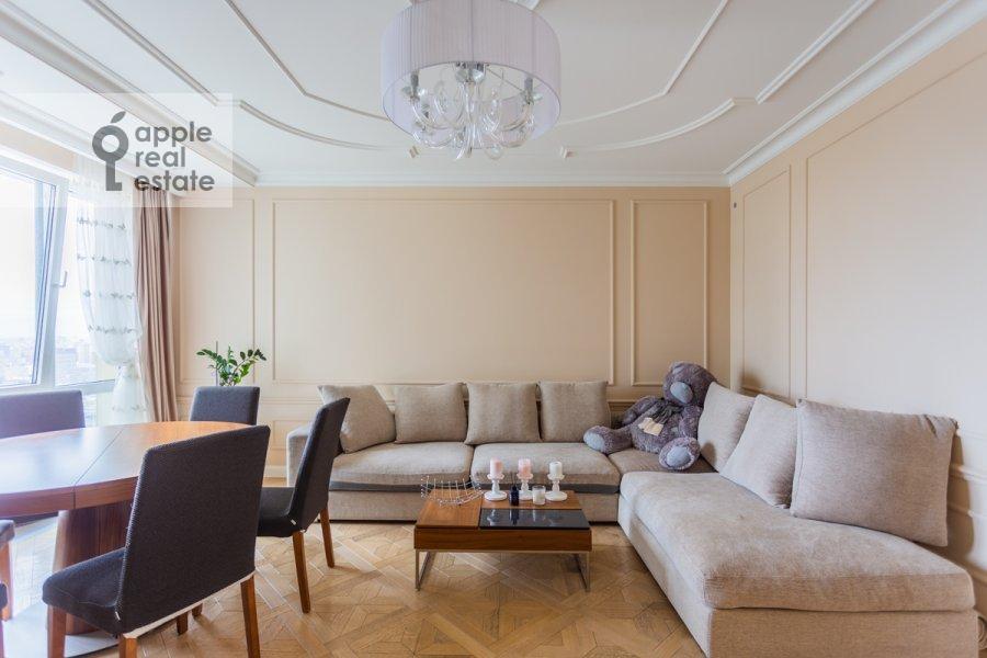 Гостиная в 3-комнатной квартире по адресу Хорошевское шоссе 12к1