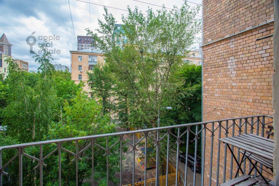 Balcony / Terrace / Loggia of the 3-room apartment at Bol'shoy Tishinskiy pereulok 26k13-14