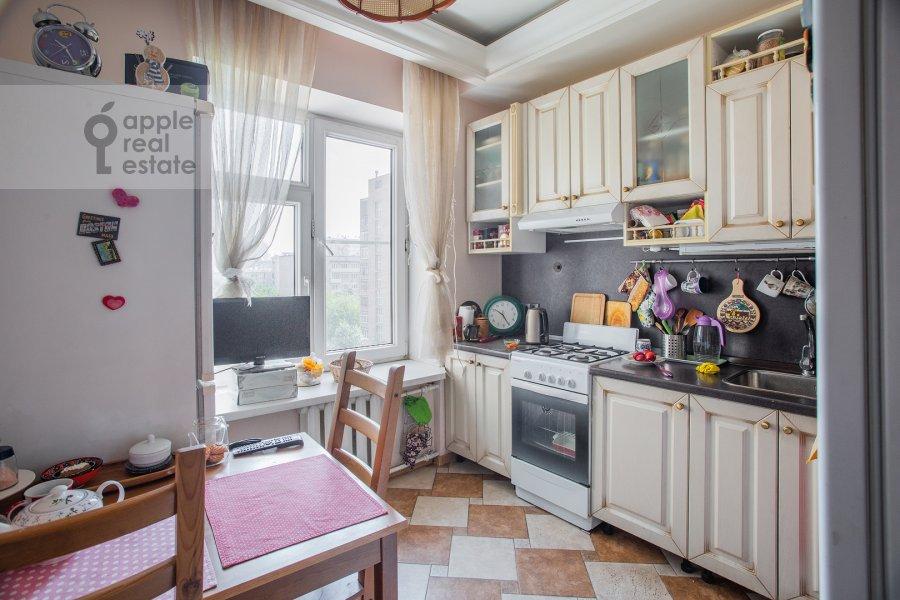 Kitchen of the 2-room apartment at Kutuzovskiy prospekt 5/3