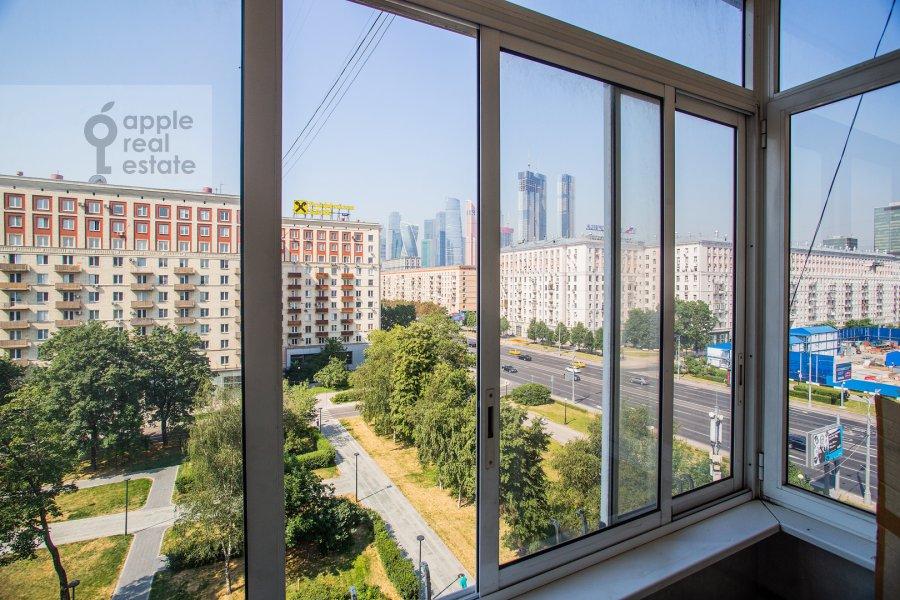 Balcony / Terrace / Loggia of the 2-room apartment at Kutuzovskiy prospekt 5/3