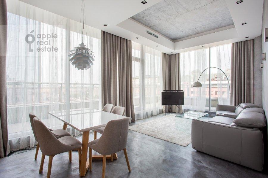 Living room of the 3-room apartment at Bol'shaya Gruzinskaya ulitsa 69