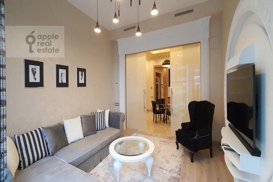 Гостиная в 2-комнатной квартире по адресу Большая Грузинская улица 69