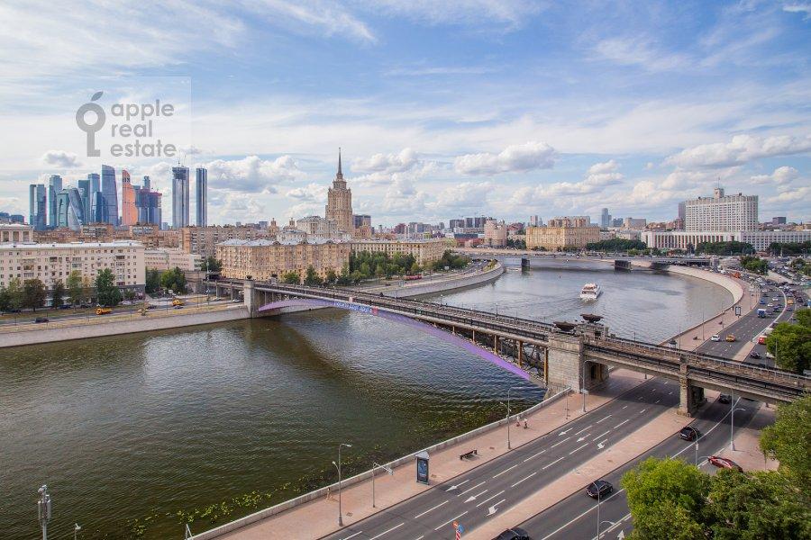View from the window of the 4-room apartment at Smolenskaya naberezhnaya 2