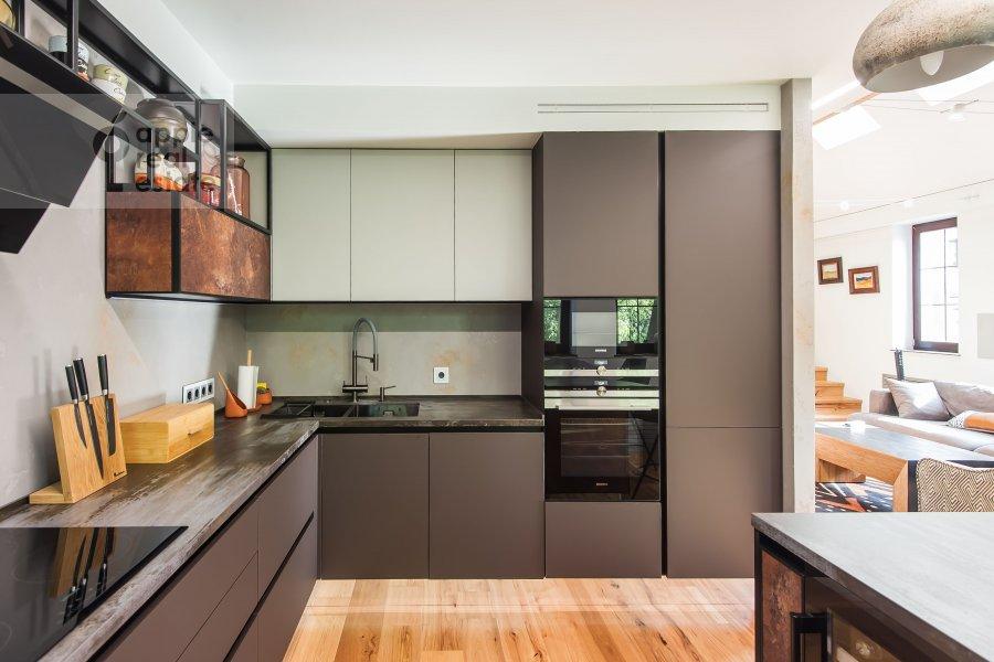 Kitchen of the studio apartment at Dukhovskoy pereulok 17c11