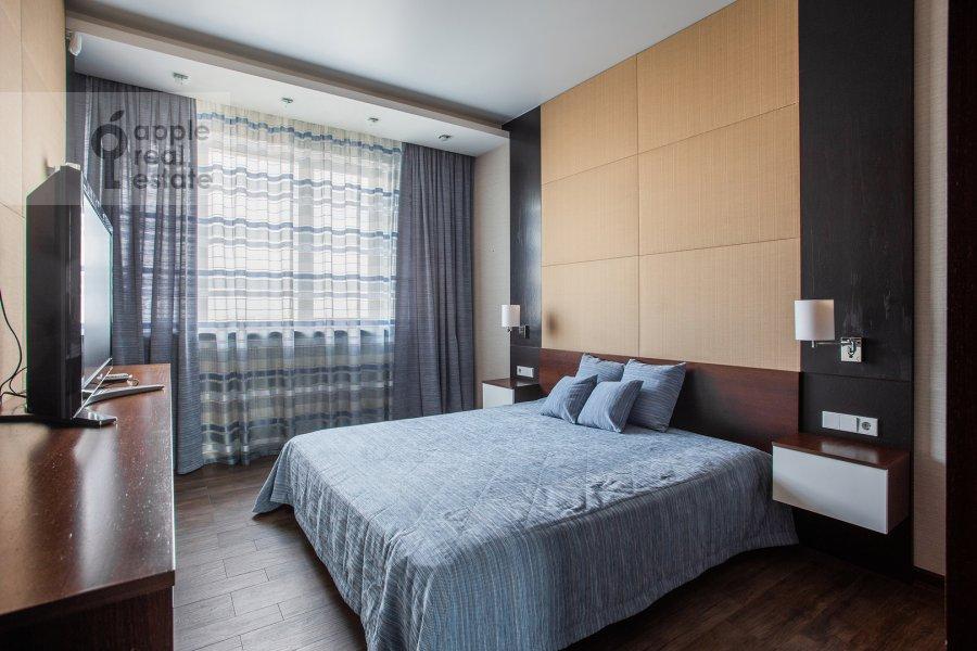 Bedroom of the 2-room apartment at Pervomayskaya ulitsa 42k2