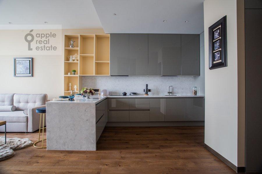 Kitchen of the 2-room apartment at 1-y Krasnogvardeyskiy proezd 22k2