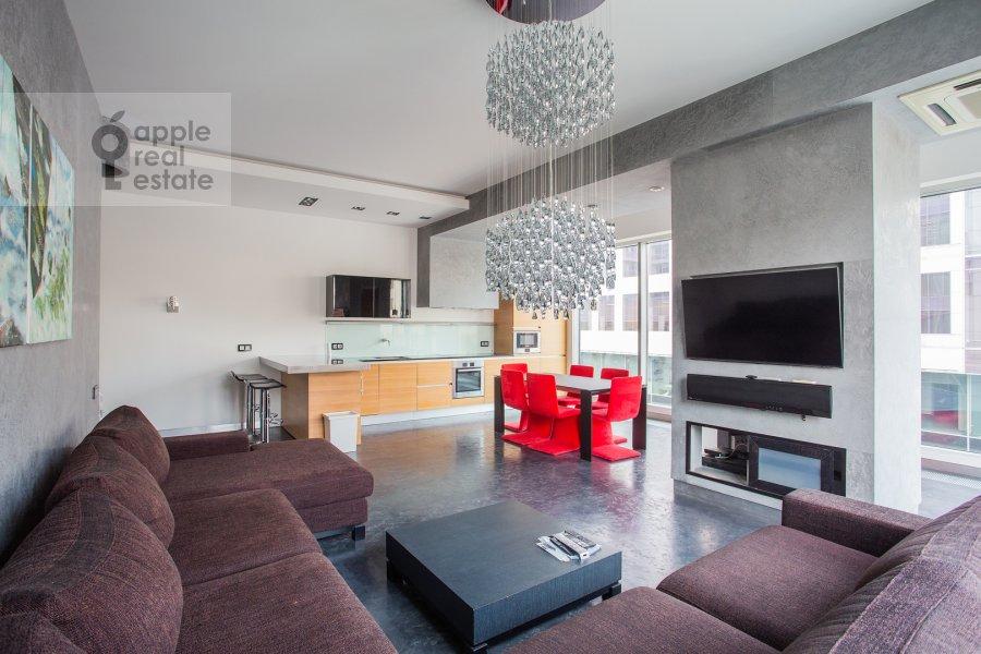 Гостиная в 3-комнатной квартире по адресу Большая Грузинская улица 69