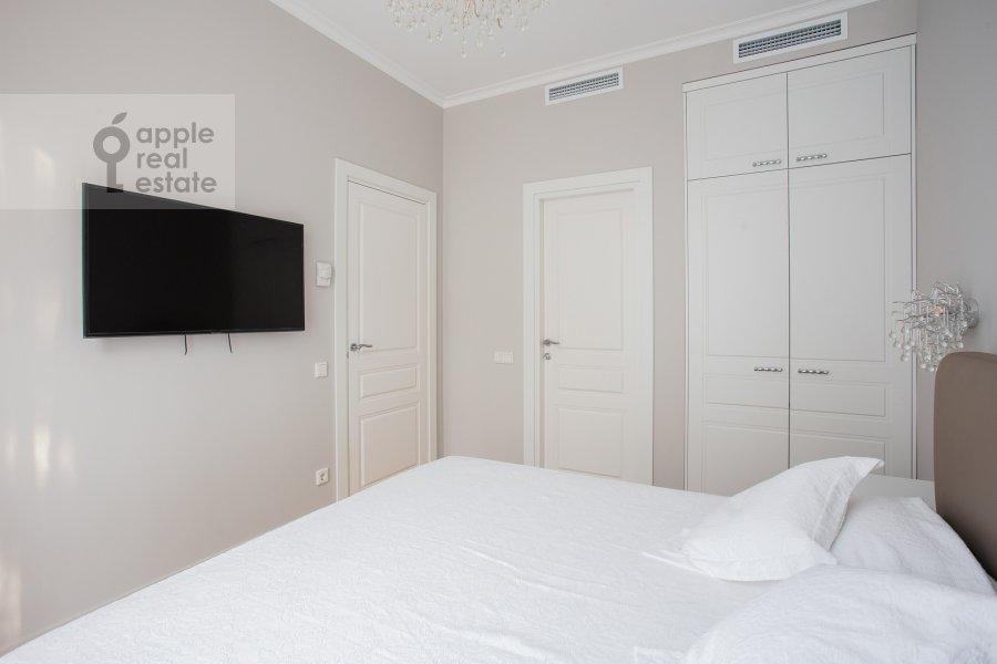Bedroom of the 3-room apartment at Leninskiy prospekt 38Ak3