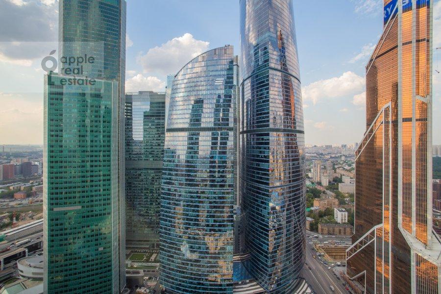 View from the window of the studio apartment at Presnenskaya naberezhnaya 8s1