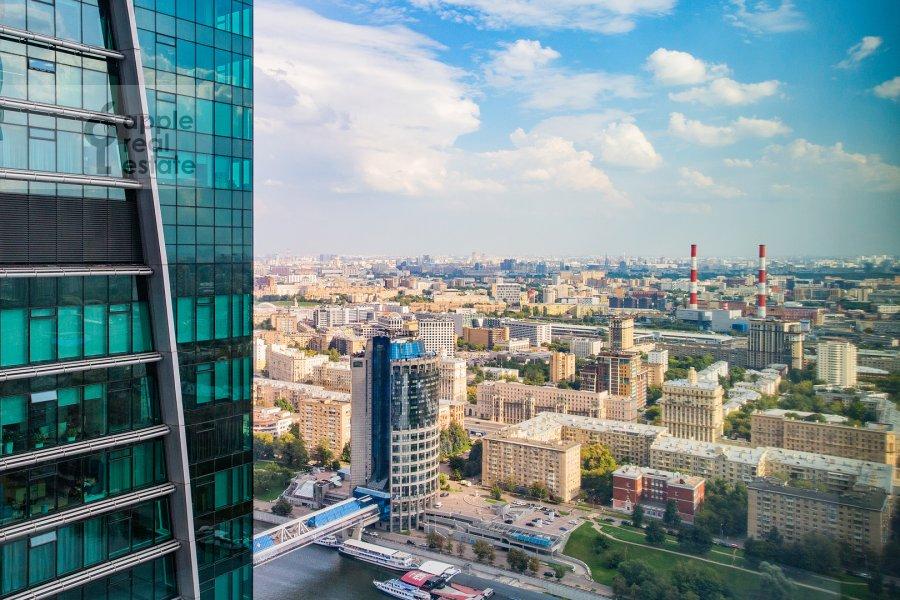 View from the window of the 2-room apartment at Presnenskaya naberezhnaya 8s1
